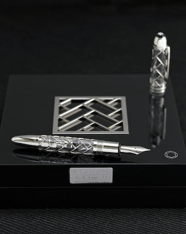 MONTBLANC: Skeleton Platinum-Plated Limited Edition 333 Fountain Pen