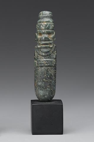 Anthropomorphic Celt Axe God Pendant, Guanacaste/Nicoya, Costa Rica, ca. 500 B.C. - A.D. 500