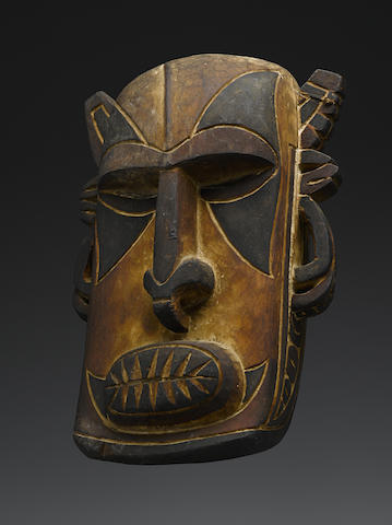 Fine and Rare Tami Islands Mask, Huon Gulf, Papua New Guinea