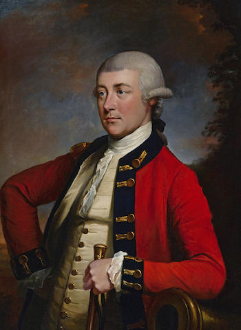 John Singleton Copley (American, 1737-1815) Portrait of Captain Gabriel Maturin 36 x 28in