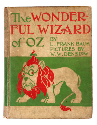 BAUM, L. FRANK. 1856-1919. DENSLOW, W.W., illus. The Wonderful Wizard of Oz. Chicago & New York: Geo. M. Hill Co., 1900.