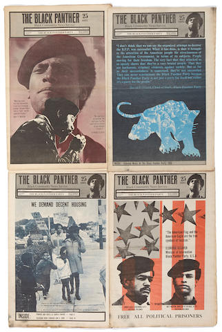 BLACK PANTHER PARTY. The Black Panther. Oakland and San Francisco: Black Panther Party, 1967-74.