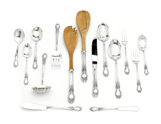 An American  sterling silver  part flatware service for twelve by International Silver Co., Meriden, CT, mid-20th century