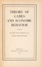 VON NEUMANN, JOHN, and OSKAR MORGENSTERN. Theory of Games and Economic Behavior. Princeton University Press, 1944.