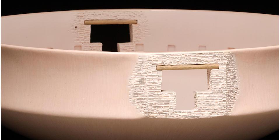 A Hopi creamware architectural vessel