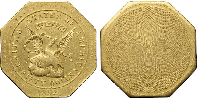 1852 U.S. Assay Office $50 887 THOUS