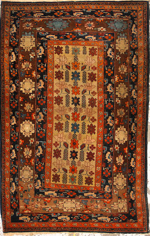 A Meshed rug size approximately 3ft. 6in. x 5ft. 5in.