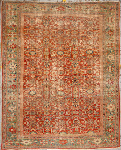 A Sultanabad rug size approximately 9ft. x 11ft. 6in.