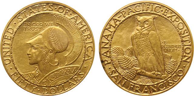1915-S Panama-Pacific $50 Round MS62 PCGS