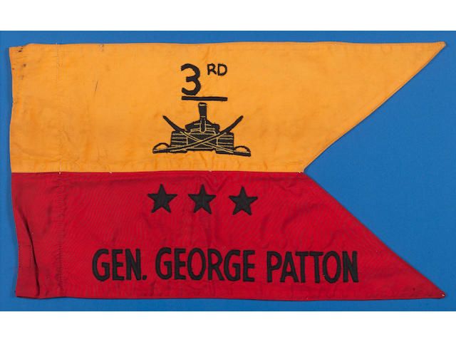 General George Patton's 3rd Army personal Guidon 12 x 21 in (30 x 54 cm)