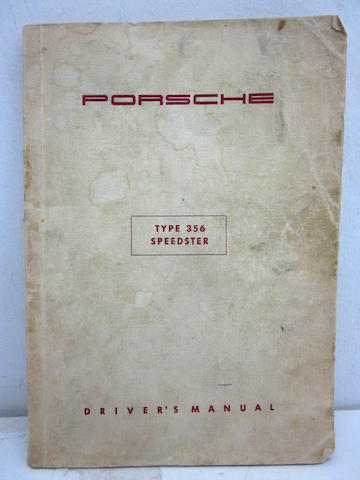 An original Porsche Type 356 Speedster driver's manual,