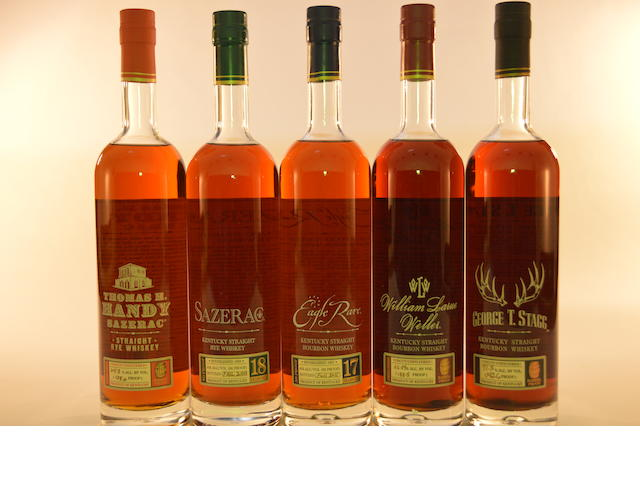 George T. Stagg 2011 Edition (1) William Larue Weller 2011 Edition (1) Eagle Rare 17 years old 2011 Edition (1) Sazerac Rye 18 years old 2011 Edition (1) Thomas H. Handy Sazerac Rye 2011 Edition (1)