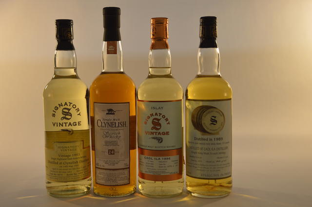 Caol Ila 1994- 10 years old (1) Caol Ila 1989-10 years old (1) Clynelish 1993- 9 years old (1) Clynelish 14 years old (1)