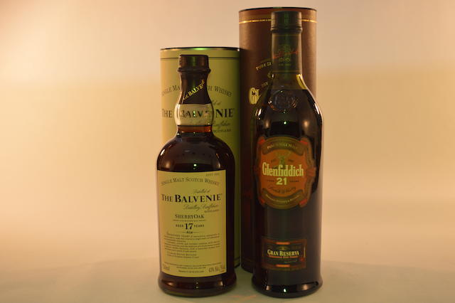 Balvenie- 17 years old (1)  Glenfiddich- 21 years old (1)