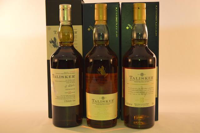 Talisker 175th Anniversary (1)  Talisker- 18 years old (1)  Talisker- 25 years old (1)