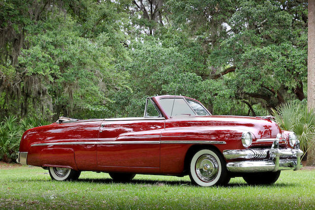 <i>Single family ownership since new, subject of a recent $70,000 restoration</i><br /><b>1951 Mercury Eight Convertible </b><br />Chassis no. 51ME23581M