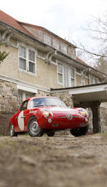 <i>Ex-Team Roosevelt</i><BR /><B>1959 FIAT-Abarth 750 Record Monza Bialbero Coupé<BR />Coachwork by Carrozzeria Zagato</B><BR />Chassis no. 550486<BR />Engine no. 600319 (its matching numbers unit with car, see text)