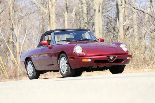 1991 Alfa Romeo Spider Veloce  Chassis no. ZARBB32N6M6010778