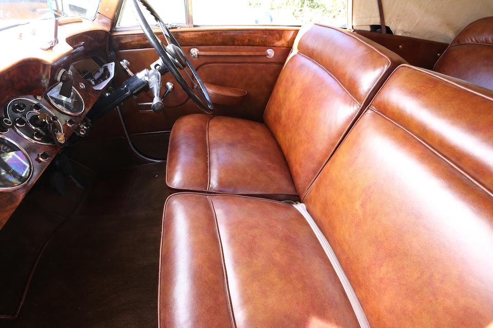 <b>1952 Lagonda 2.6-Liter Drophead Coup&#233; </b><br />Chassis no. LAG/50/476 <br />Engine no. BCA 50/554