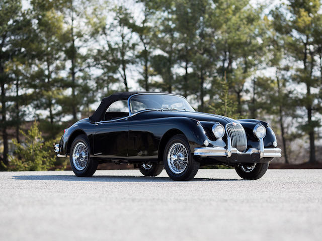 <i>Over 50 Concours wins, 100 pint JCNA status</i><br /><b>1959 Jaguar XK150S 3.4-Liter Roadster </b><br />Chassis no. T831532DN <br />Engine no. VS 1486-9