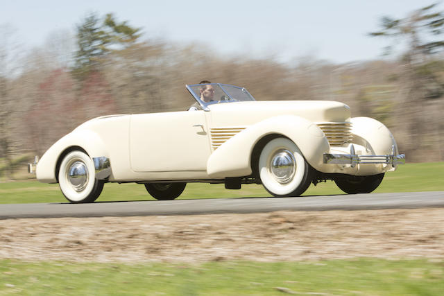 <i>The ex-William A.C. Pettit III</i><br /><b>1937 Cord 812 Phaeton </b><br />Chassis no. 1339H <br />Engine no. FB2454