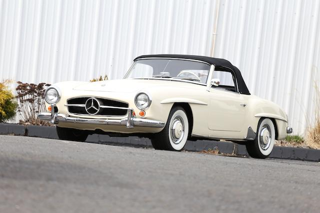 <b>1960 Mercedes-Benz 190SL Roadster </b><br />Chassis no. 121042-10-014520 <br />Engine no. 121921-10-014637