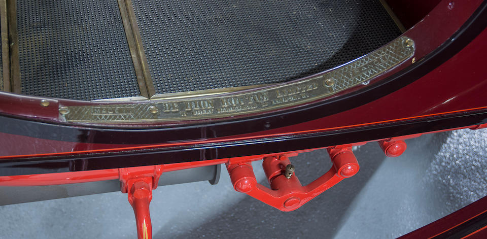 <i>Winner of the Charles A. Chayne Trophy at the 2001 Pebble Beach Concours d'Elegance</i><br /><b>1905 De Dion Bouton Bouton Model Z 8hp Rear Entrance Tonneau </b><br />Chassis no. 1040 <br />Engine no. 17040