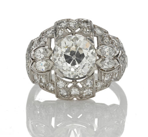 An art deco diamond ring, C.D. Peacock,
