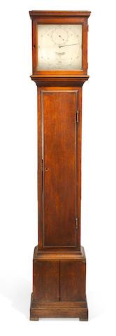 A fine mid 18th century oak floorstanding regulator of one month duration George Graham, London, number 767