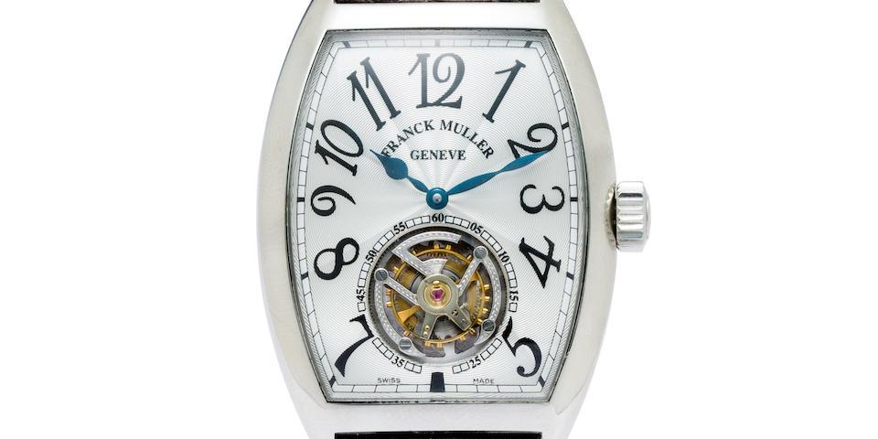 Franck Muller. A fine platinum tourbillon wristwatchMaster Imperial, Ref:7851 T, No.63
