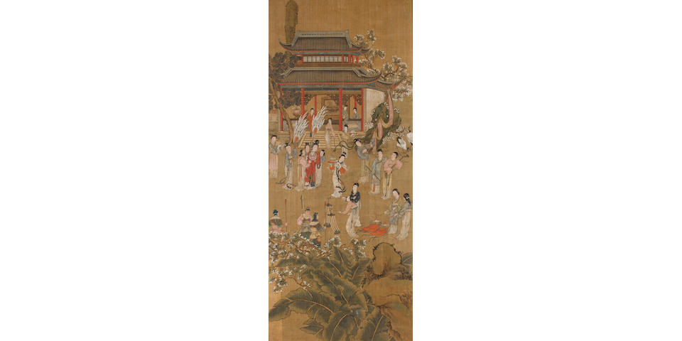 A set of four Chinese Export painted silk framed panels Anonymous, Republic Period