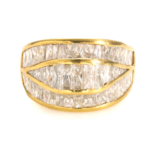 A diamond dome ring