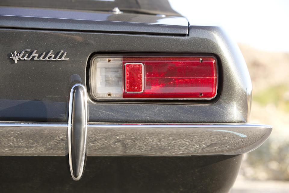 <b>1969 MASERATI GHIBLI 4.7-LITER SPIDER  </b><br />Chassis no. AM115S 1043