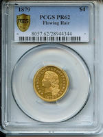 1879 Flowing Hair $4 Proof 62 PCGS