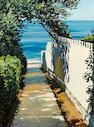 Christopher S. Gerlach (American, born 1952) Path to the Sea: La Jolla 16 x 12in