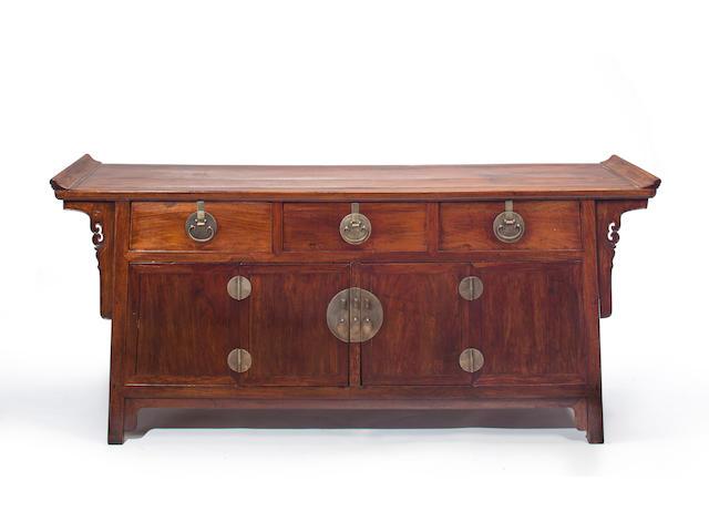 A fine huanghuali altar coffer  19th century