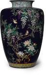 A cloisonné enamel vase  Meiji period (late 19th century)