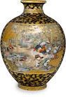 A Satsuma vase By the Kinkozan studio, Meiji period (19th century)