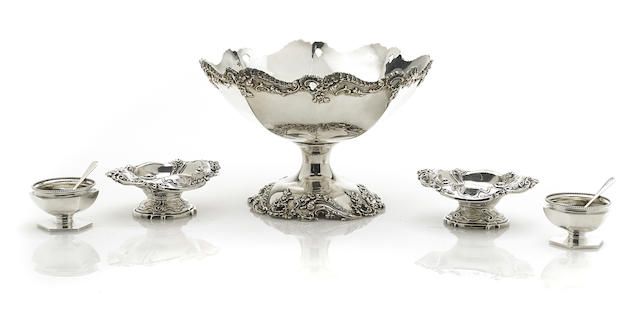 An assembled group of American  sterling silver  hollowware by various makers,  late 19th - early 20th century