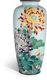 A ginbari and yusen cloisonné enamel vase By Kumeno Teitaro, Meiji period (late 19th century)