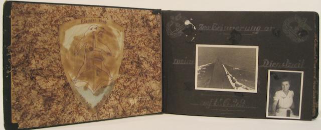 A U-boat officer's wartime photo album circa 1942 12-3/4 x 7-3/4 in. (32.3 x 19.6 cm.)