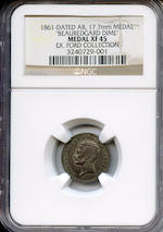 "1861-Dated General Beauregard Silver ""Dime"" XF45 NGC"