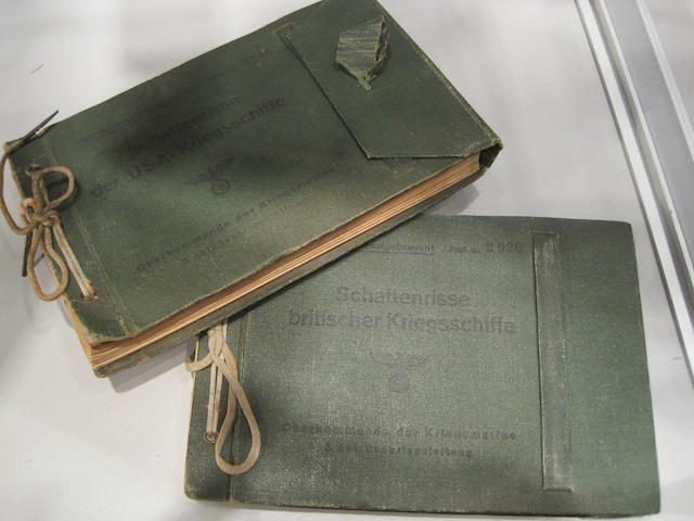 A pair of Kriegsmarine Allied ship identification books as of 1943 8-1/4 x 5-1/2 in. (20.9 x 13.9 cm.) each. 2