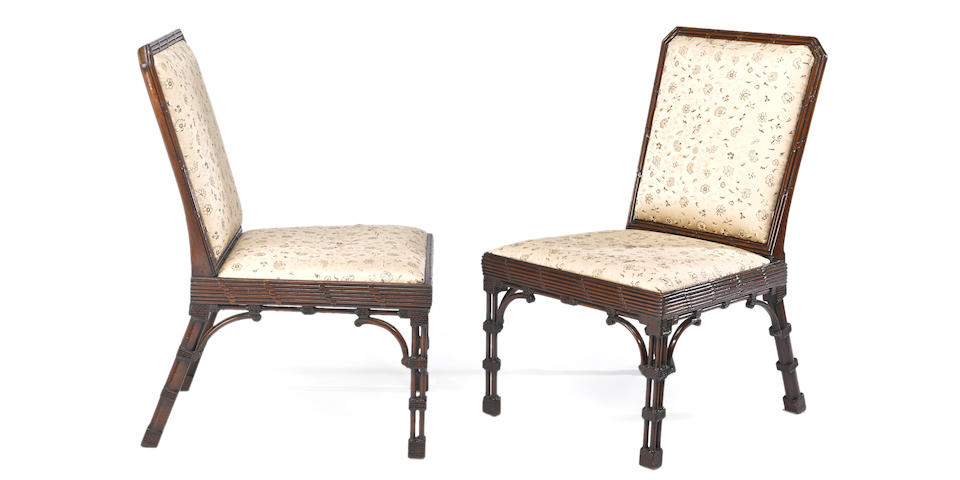 A fine pair of George III mahogany side chairsin the manner of William Linnellthird quarter 18th century