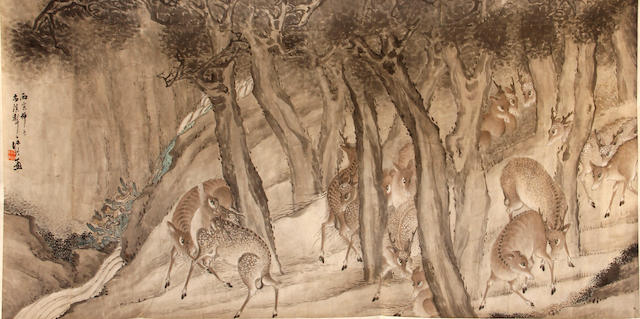 Anonymous (20th century) Deer in the Forest