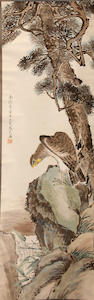 Various Artists (20th century) Two paintings of Birds in Landscape