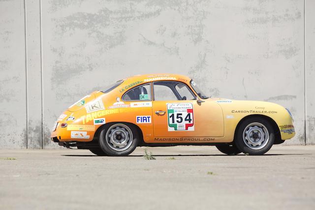 <b>1958 PORSCHE 356A COUPE LA CARRERA PANAMERICANA RALLY CAR </b><br /> Chassis no. 105616