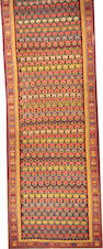 A Turkish kilim size approximately 6ft. 8in. x 24ft. 3in.