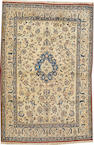 A Nain rug  size approximately 3ft. 8in. x 5ft. 7in.