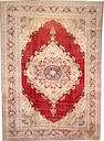 A Silk Tabriz carpet  size approximately 9ft. 5in. x 13ft. 1in.